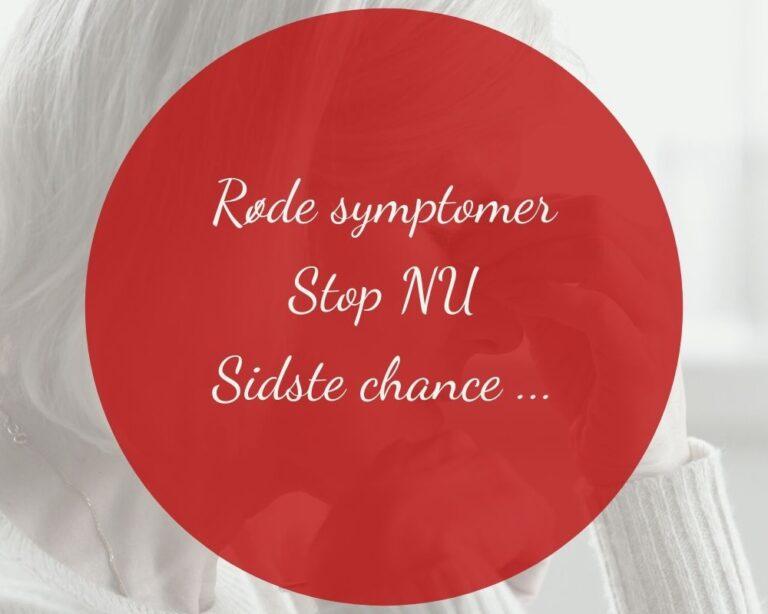 Røde stress symptomer
