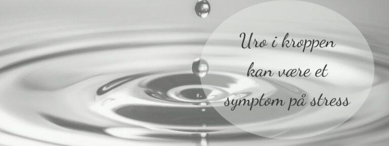 Uro i kroppen kan være et symptom på stress
